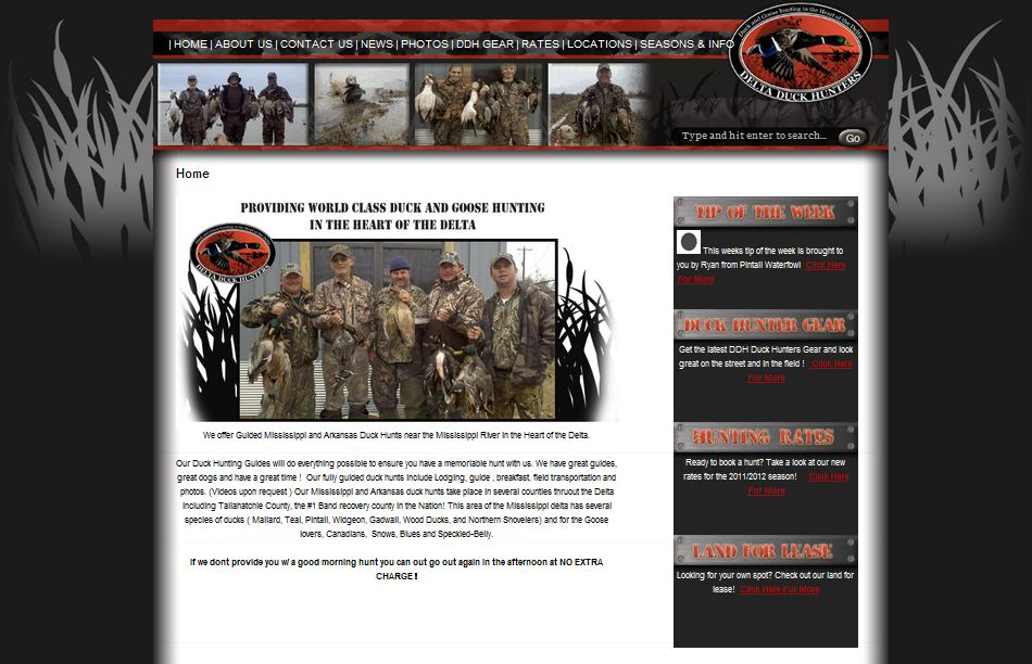 Delta hunting guide website