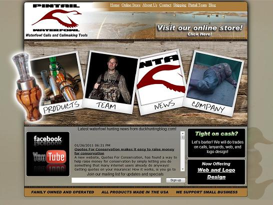 Pintail Waterfowl Website